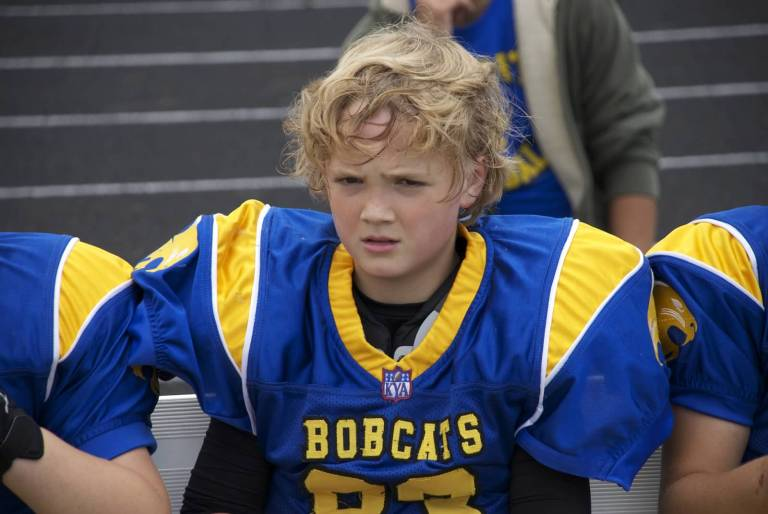 Angry Youth Football Player