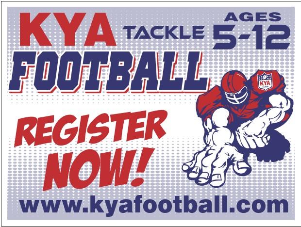 Fall football KYA Sign Ups