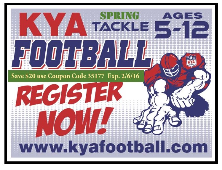 Register for Spring Football at KYA